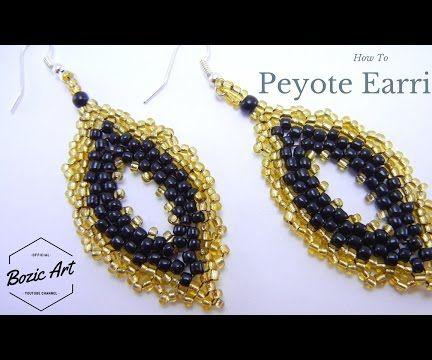 "Peyote Earrings ""Yellow Royal"" | Beading Tutorial"