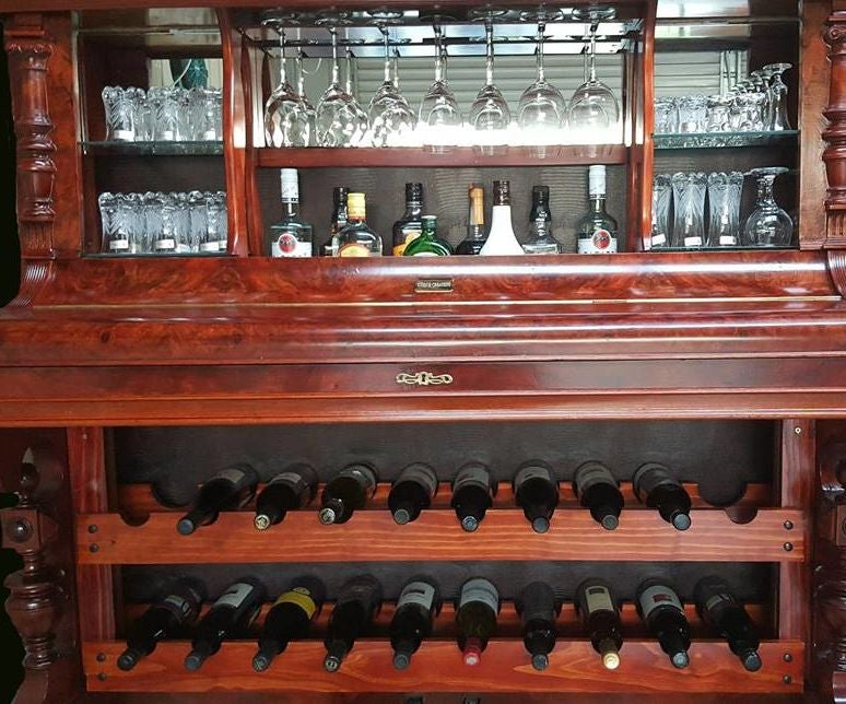 How To Repurpose A Piano Into A Bar Drinks Cabinet 9 Steps With Pictures Instructables