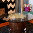 Glowing Recycled Drum Coffee Table