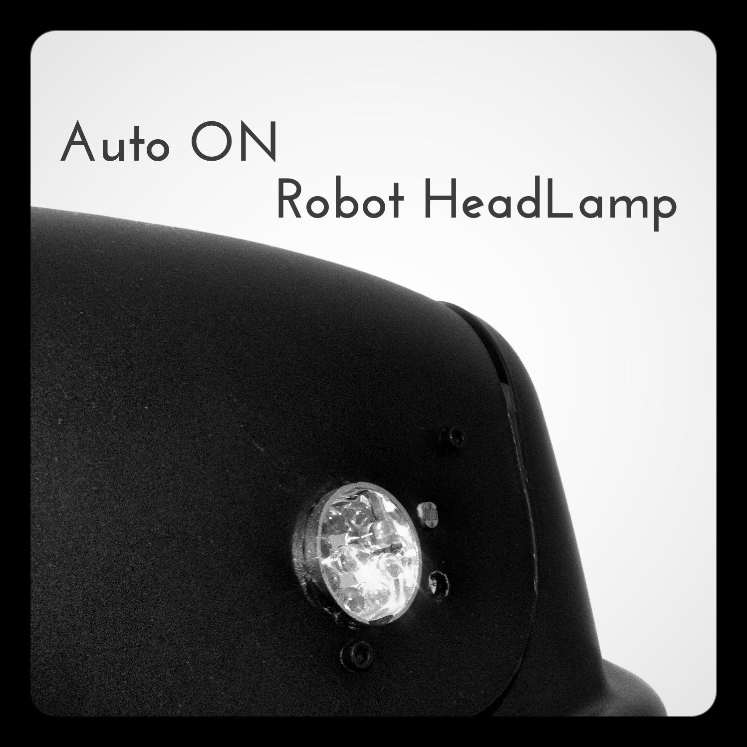 Simple Dark Detect LED Robot's Flashlight