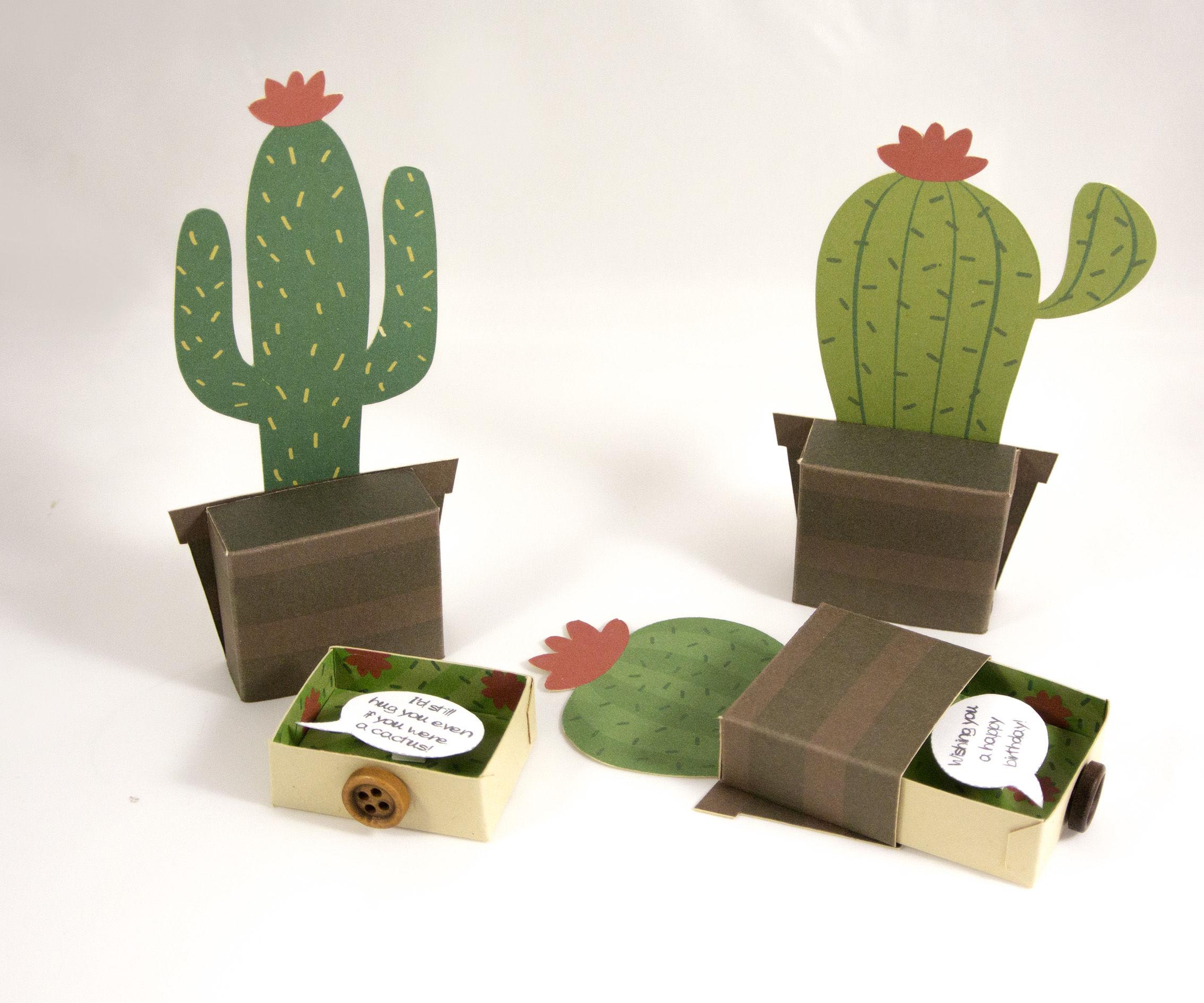 Cactus 3D Greeting Card Fridge Magnet