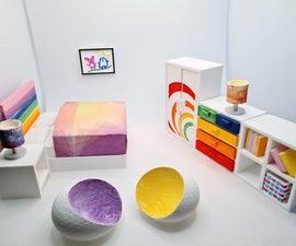 Sylvanian Kider's Bedroom家具!(3D印刷Tinkercad项目)