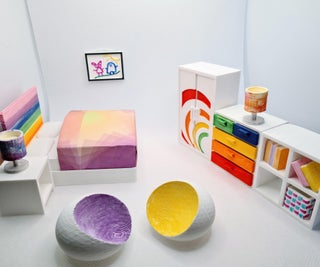 Sylvanian Kids' Bedroom Furniture! (3D Printed Tinkercad Project)