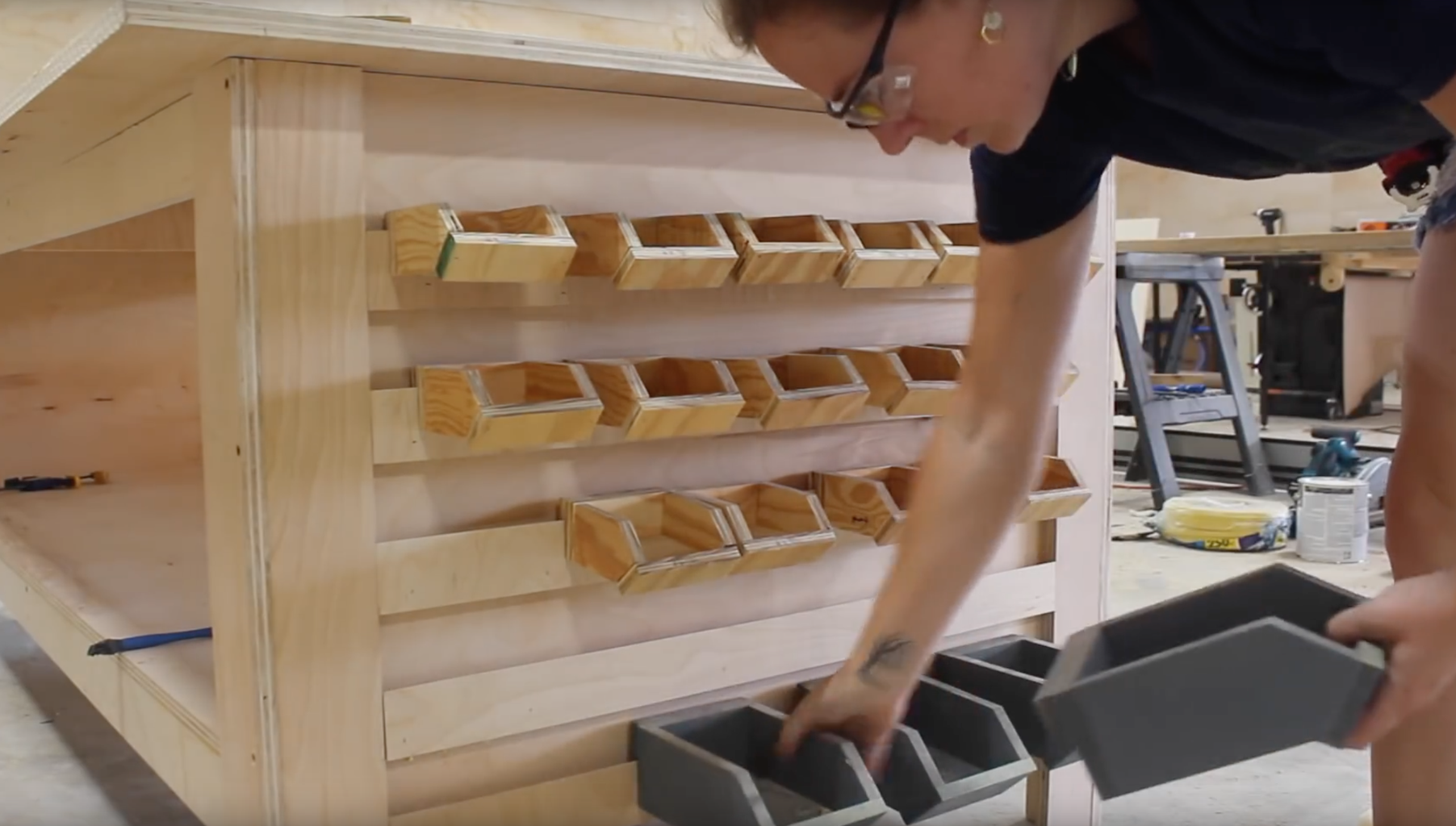 Adding French Cleats for Hardware Storage Bins