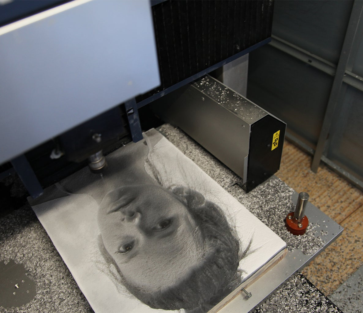 Machining an Image Into a Slab of Paint