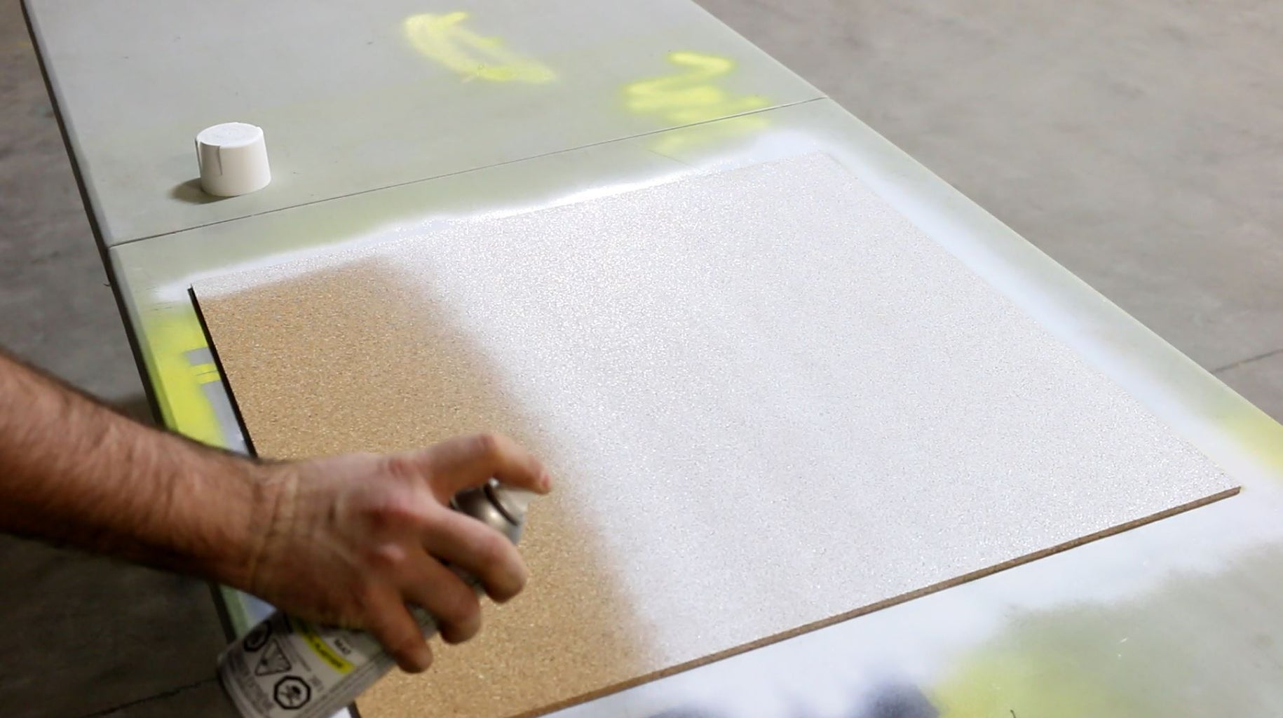 Painting Our Cork Board