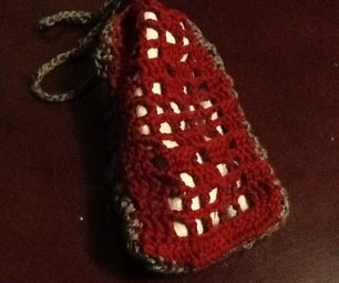 Fillet Crochet Glasses Case From Cleaning Cloth