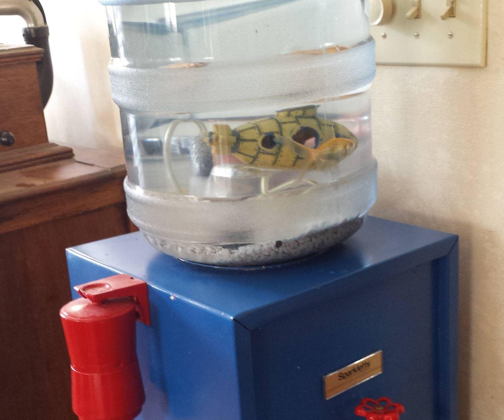 Water Cooler Aquarium that's Still Drinkable
