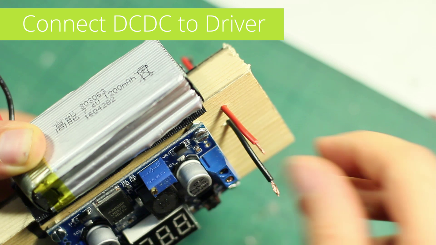 Connect the DCConverter With the Driver