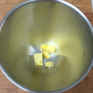 In a Bowl of an Electric Mixer, Add in Butter.