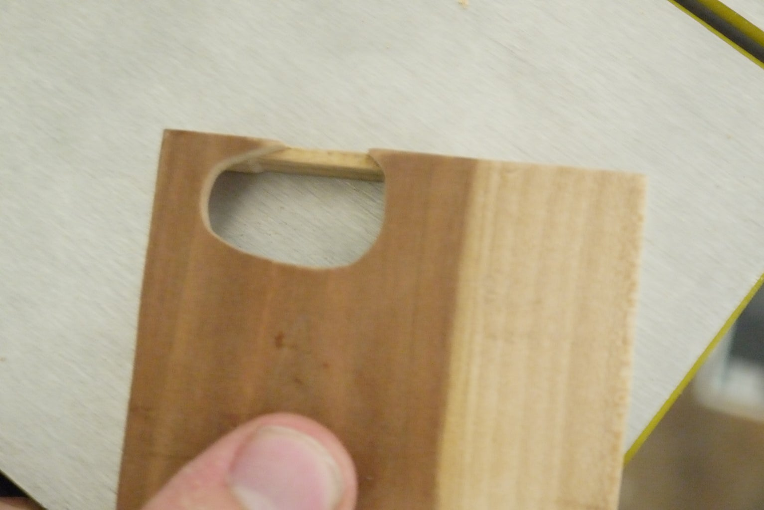 Shape the Lid and Make Camera Opening If Applicable. and Sand!