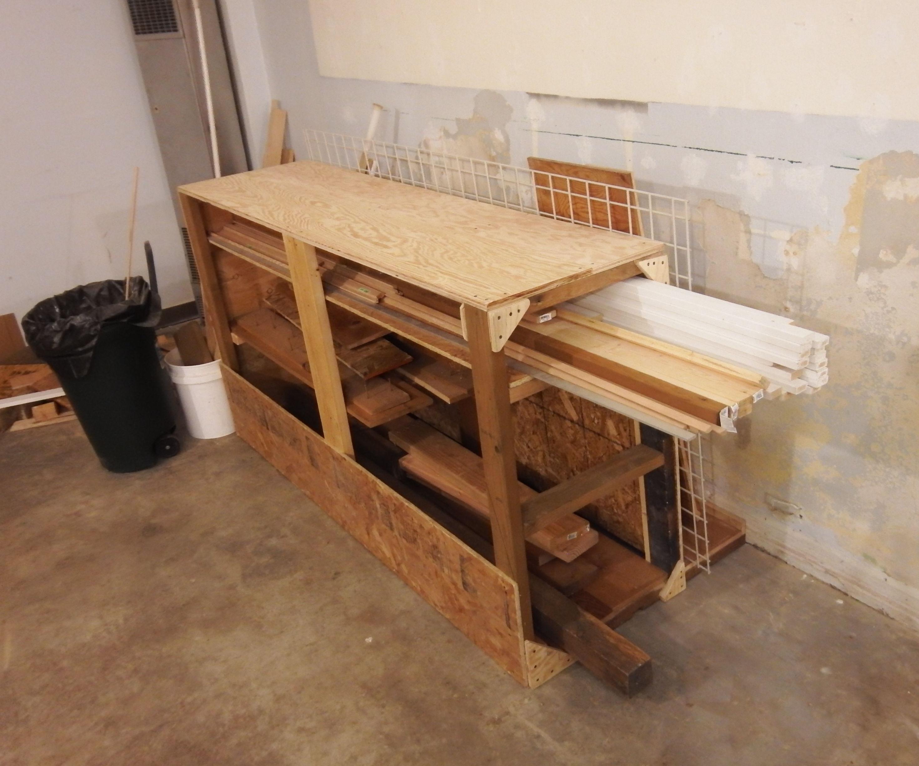 Lumber Storage Rack Made from Scrap