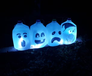 Sound Activated LED Ghosts