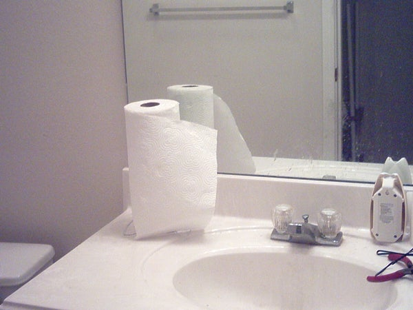 Paper Towel Stand.
