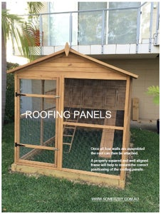 Fitting the Roofing Panels to Your Chicken Coop