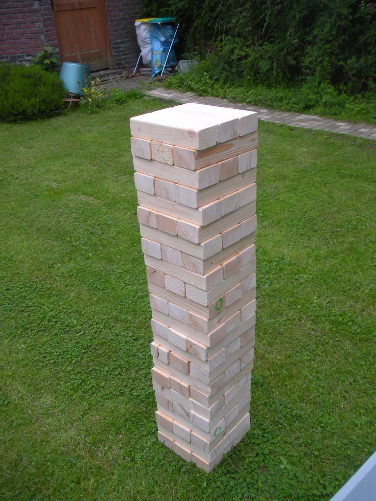 """Giant """"wooden Block Stacking Game"""" Tower"""