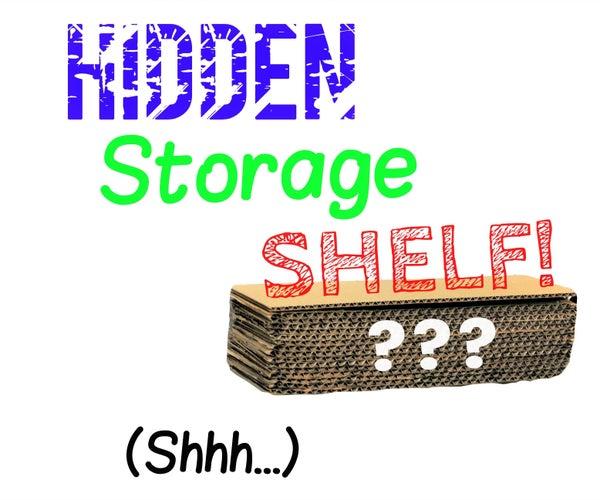 DIY Floating Cardboard Shelf With HIDDEN STORAGE!