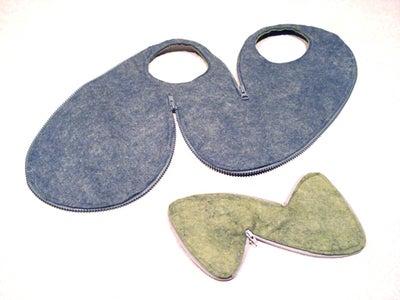Flat Zipper Bag and Wallet