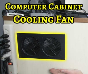 安装计算机机柜通风风机