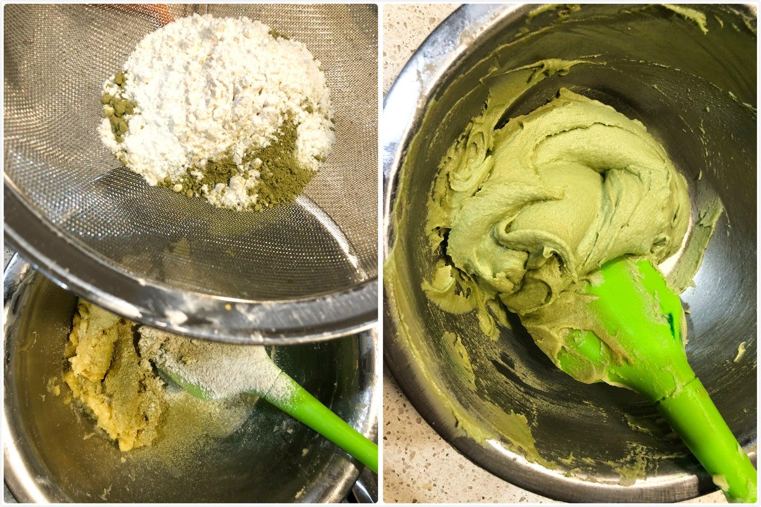Making Cookie #2 Matcha Cookie