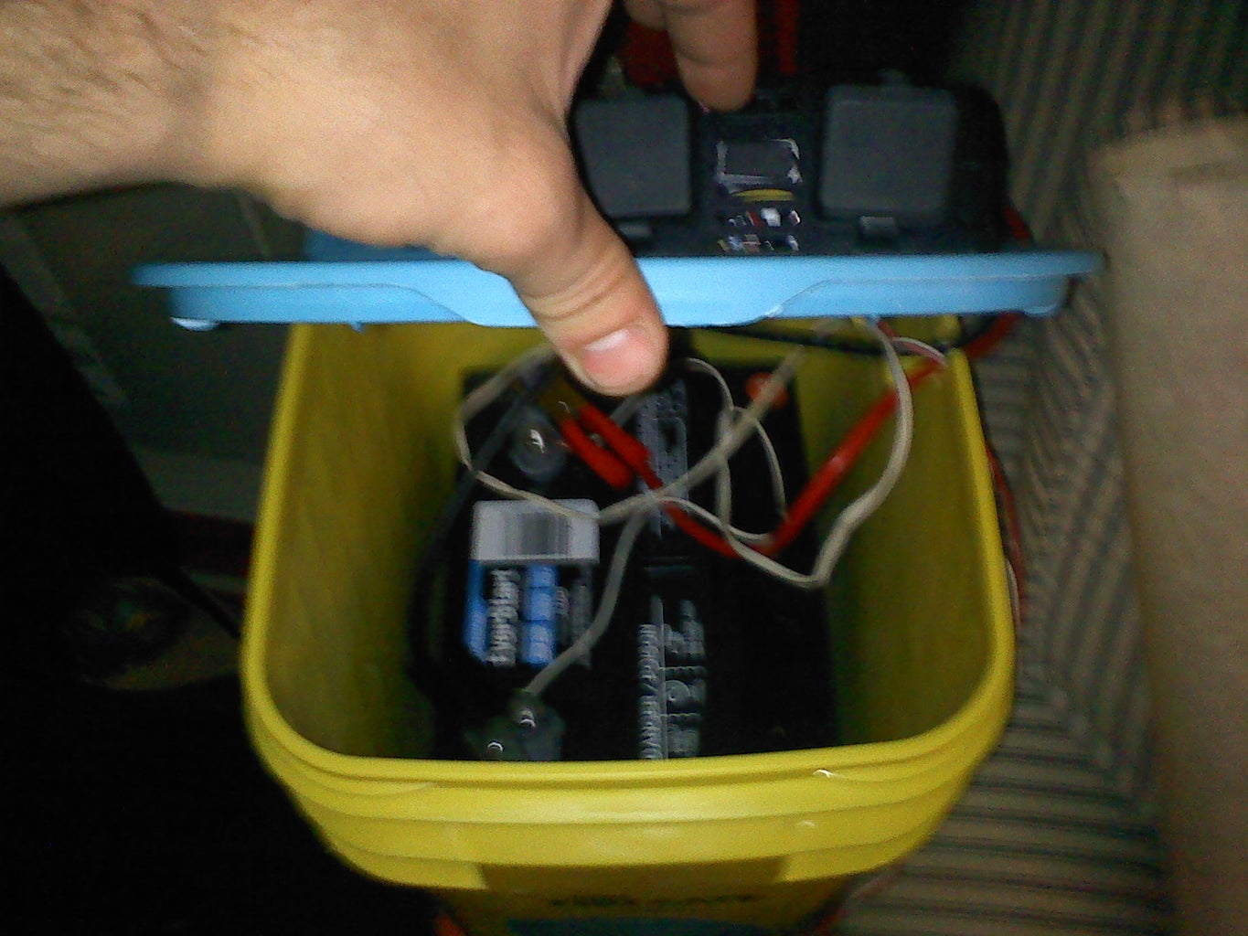 Building the Voltage Regulator, Hooking Up the Electronics and Battery