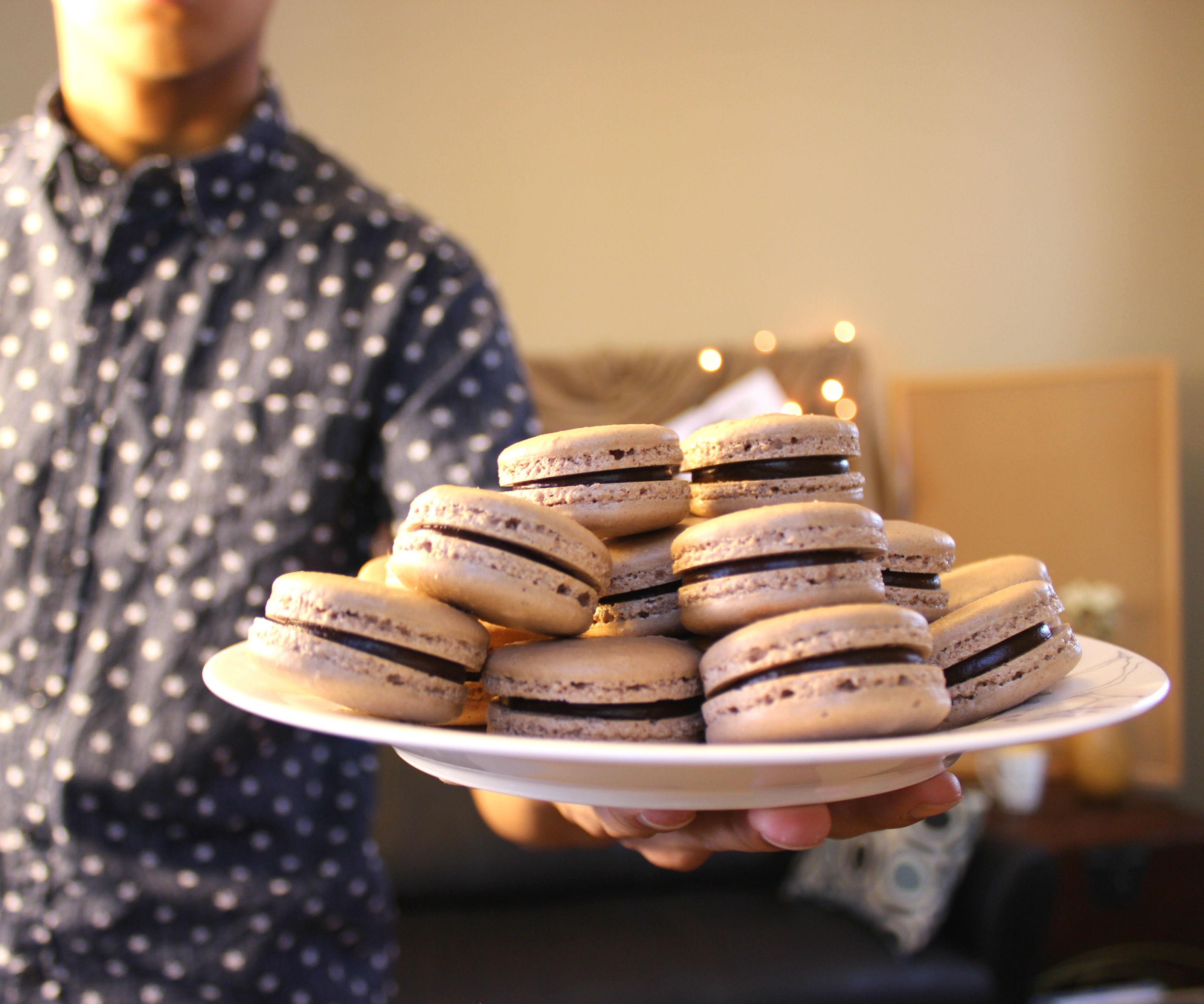 Chocolate Macarons | Josh Pan