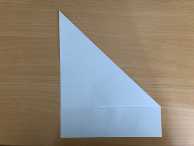 Fold From Corner of Paper to Other Side