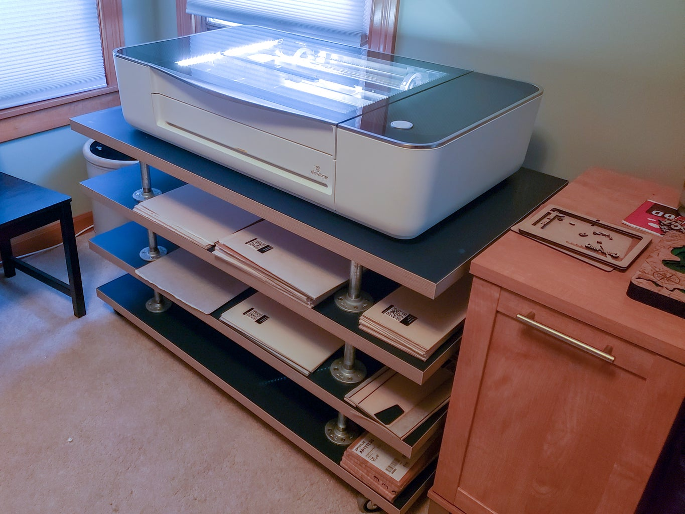Mount Glowforge and Supplies