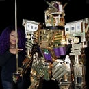 Giant Gold Robot From 800 YSL Boxes