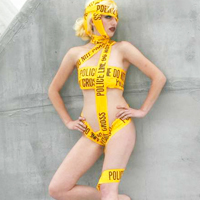 Lady Gaga Caution Tape Costume