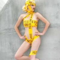Lady Gaga Caution Tape Costume