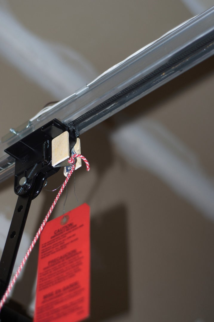 If You Have Windows in Your Garage Door, Consider an Additional Barrier in Front of the Release