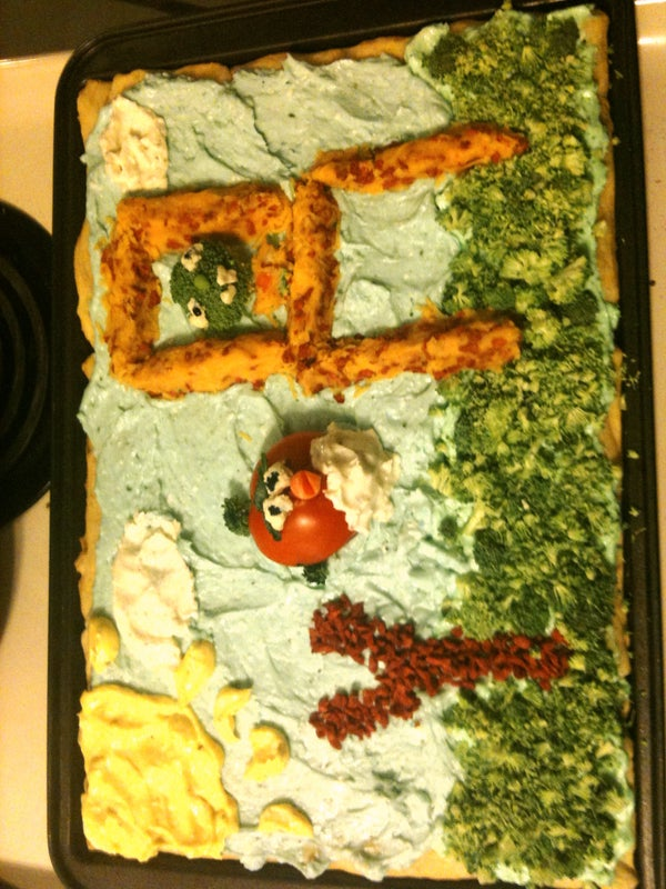 Angry Birds Vegetable Pizza