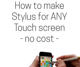 How to Make Stylus for Any Touch Screen