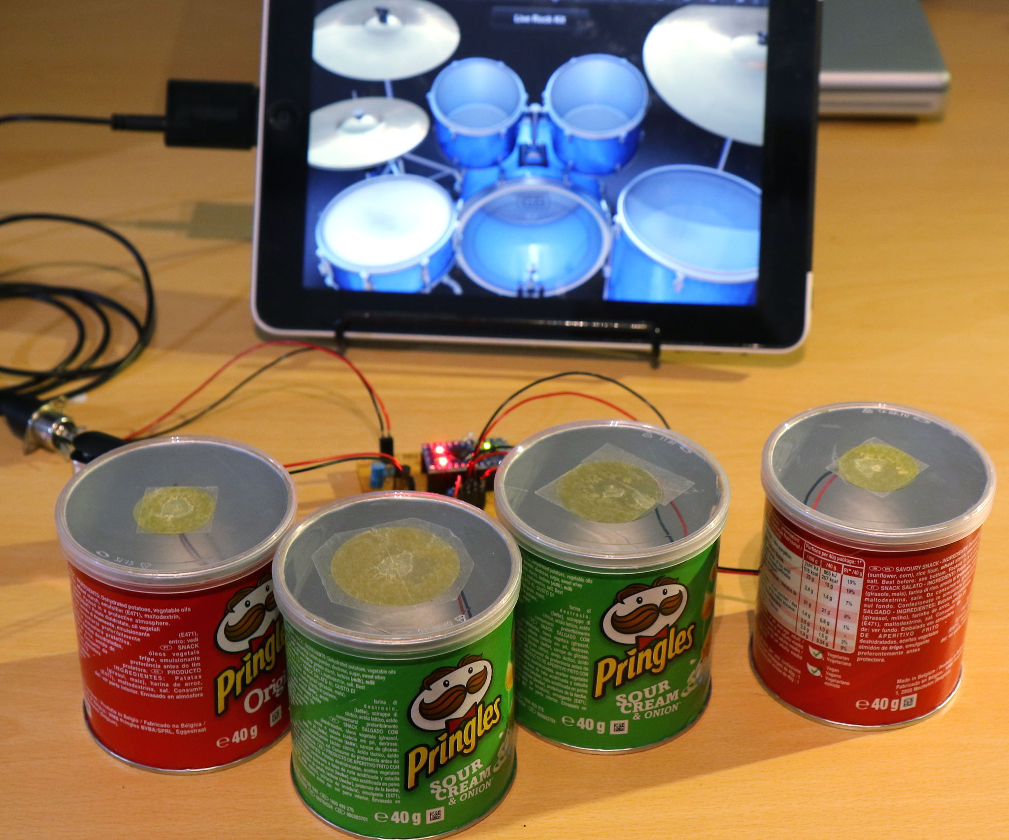 Pringle Can MIDI Drums