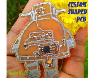 Custom Shaped PCB (Instructable Robot)