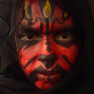 Darth Maul Makeup Transformation