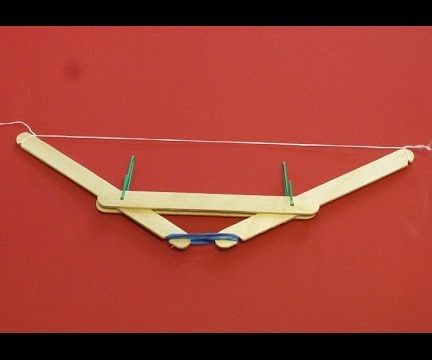 How to make a Rubber Band Powered Bow