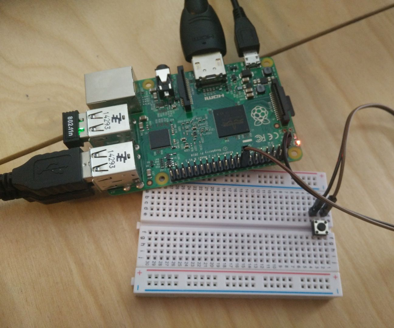 Raspberry Pi e-mail push button device using Gmail