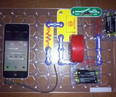 SNAPCIRCUITS Audio Amplifier