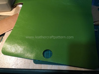 Hollow the Hole for Inlay Leather
