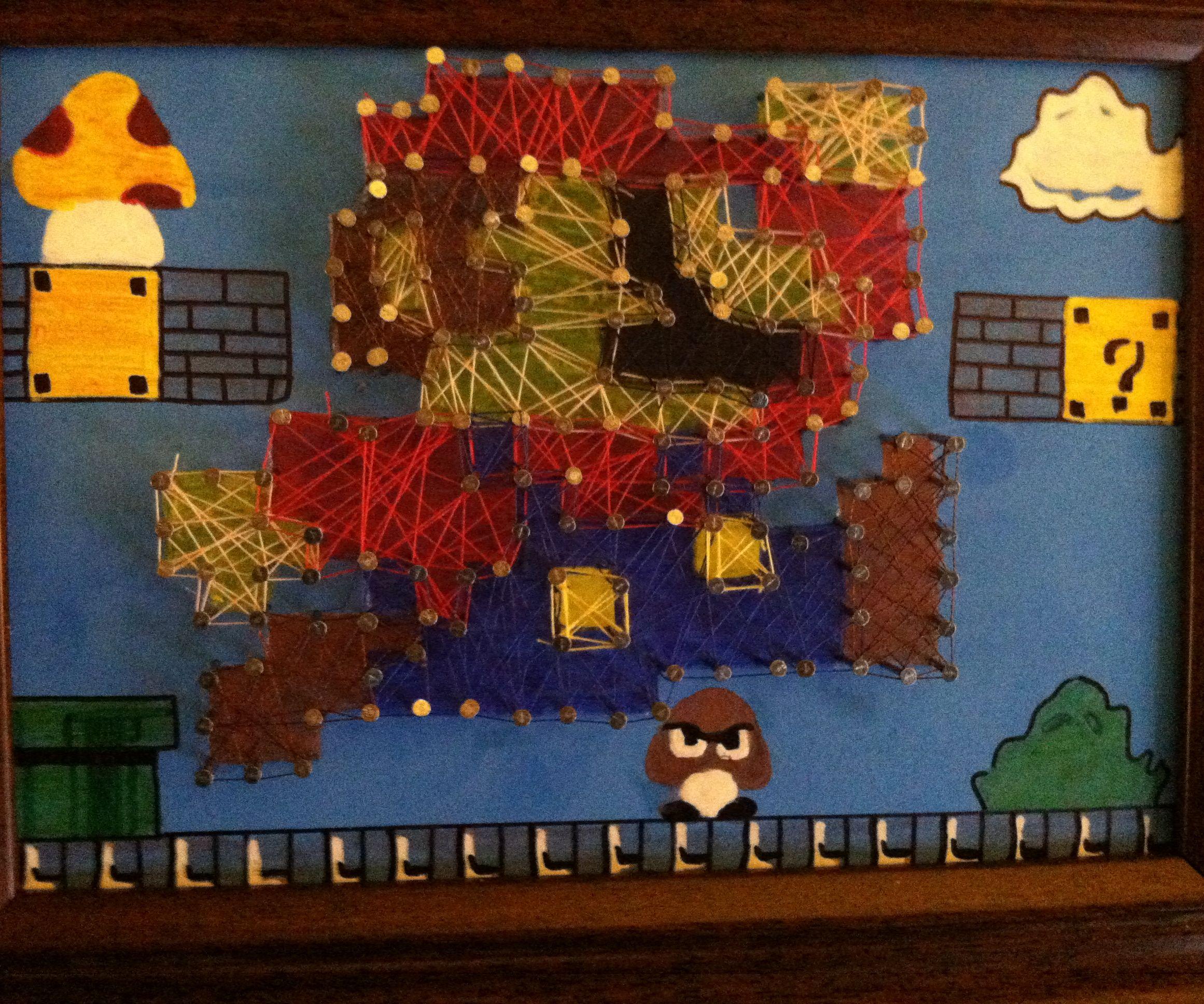 Mario String Art