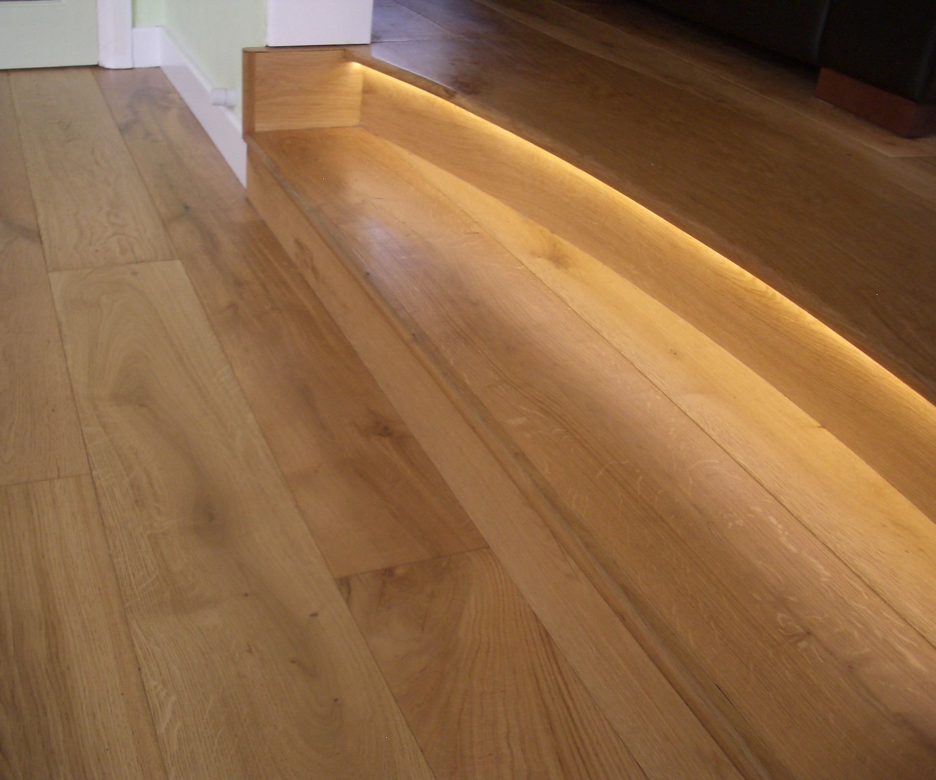 Underlight a Wooden Step the Easy Way