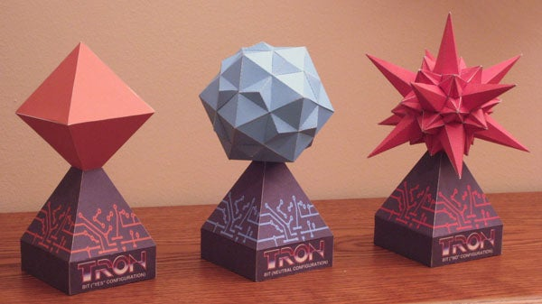 Tron Bit Paper Models