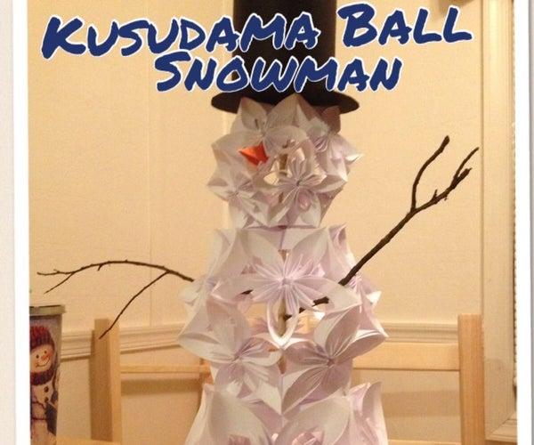 Kusudama Snowman