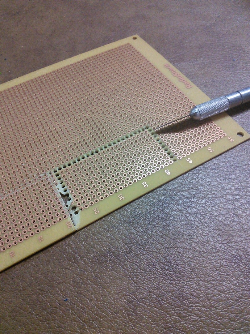 Making the PCB - Cutting the PCB