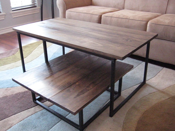 DIY 2-Tier Coffee Table