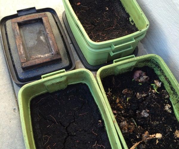 "Make ""Black Gold"" With DIY Worm Compost Bins"