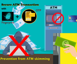 Fingerprint and OTP Authentication for ATM Machine