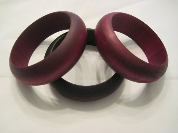 How to Dye a Unfinished Wooden Bangle and Ring With RIT Dye